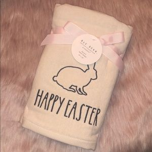 🐰 Rae Dunn HAPPY EASTER Hand Towels